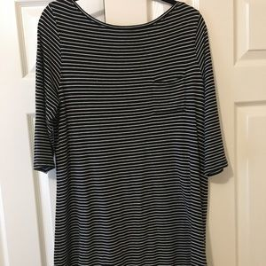 Gap blue and white striped tunic